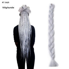 "41"" Grey Jumbo Twist Braids Synthetic Crochet African Braiding Hair Extensions"