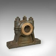 Antique Engine Bearing, Polished, English, Cast Iron, Paperweight, Victorian