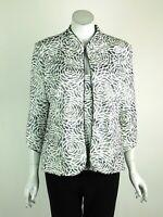 Joseph Ribkoff Twin Set Jacket & Camisole 3/4 Sleeves Ivory Silver Size 10 New