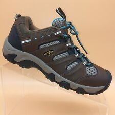 Keen Koven Dark Earth Blue Leather Mesh Walking Hiking Trail Boot Shoes Womens 7