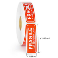 100/200Pcs Fragile Label Stickers Handle with Care Thank You Warning Signs Tags
