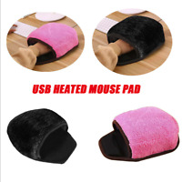 USB Heated Mouse Pad Mice Pad Mouse Hand Warmer with Wristguard Warm Winter