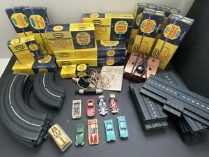 Vintage 1970's Aurora Slot Car and HO Track Collection