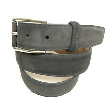 W. Kleinberg Men's size 42 Suede Made USA Belt Gray Leather
