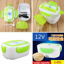 Portable Heated Lunch Box 12V Electric Heating Lunchbox Food Warmer Autos Truck