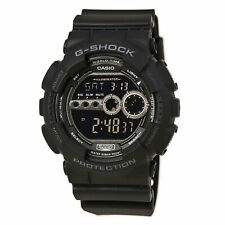 Casio Men's Watch G-Shock X-large G World Timer Black Resin Strap GD100-1B