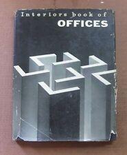 INTERIORS BOOK OF OFFICES -1st HCDJ 1959 - art design mid-century modern Whitney