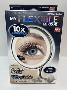 Nu Brilliance My Flexible Mirror New 10x Magnification Battery Operated Suction