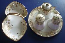 Vintage Nippon 1911 - 6 piece set - Raised Gold Flowers - RARE!!