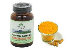 Organic India Turmeric Formula 60 Capsules Bottle   Free Shipping New