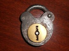 Hand Made Iron Padlock Jail For Chest Antique Vintage Beautiful Shape No Key