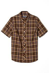 REISSUES Women's Short Sleeve Tartan Coca Shirt Size UK 10 SL05 05