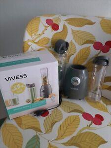 VIVESS Smoothie Maker mit 2 Mixbecher mit Trinkverschluss zum mitnehmen