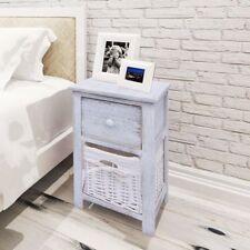 vidaXL Bedside Cabinet Wood White Bedroom Nightstand Side Table Furniture