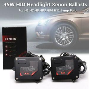 2PC Car 45W HID Headlight Xenon Light Ballast For H1 H7 H8 HB3 HB4 H11 Lamp Bulb