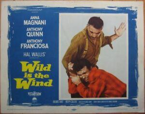 Romance Movie 1958 Lobby Card: Wild is the Wind w/Anna Magnani & Anthony Quinn