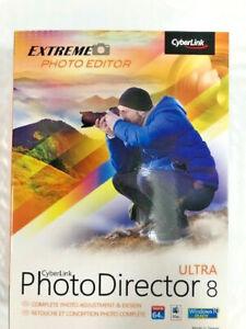 Cyberlink PhotoDirector 8 Ultra Windows 8/ Windows 7 Mac OS X Windows 10 DVD NEW