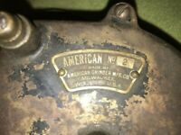Vintage American Grinder MFG. CO. Model 2. Hand Crank Grinder- WORKS GREAT U.S.A