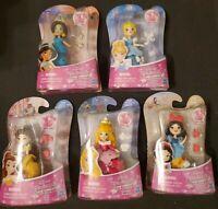 Lot of 5 Disney Princess Little Kingdom Snap-Ins Belle Jasmine Aurora Snow White