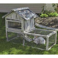 Mid-West Homes for Pets Hoppity Habitat Composite Plastic/Wood Rabbit Hutch,