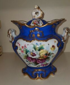 Antique Russian Porcelain Sugar Bowl with lid