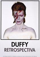David Bowie 2012 Exhibition Poster - Duffy - Aladdin Sane 1973