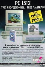 Publicité advertising 1990 Ordinateur Imprimante Amstrad PC 1512