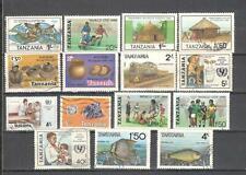 S8835 - TANZANIA 1984 - LOTTO 16 TEMATICI DIFFERENTI - VEDI FOTO