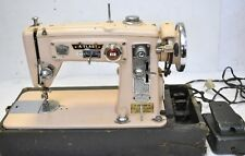 50's Pink Brother / ATLAS ZIGZAG Portable Heavy Duty Sewing Machine JAPAN