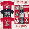 Childrens Girls Boys Xmas T-Shirts Printed Christmas Design 100% Cotton 2-13 Yrs