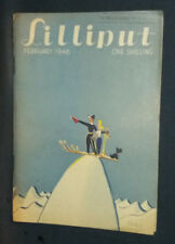 """Revue anglaise """"Lilliput"""" February 1948 Vintage photos, gags, illustrations ..."""