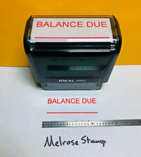 Balance Due Self Inking Rubber Stamp Red Ink Ideal 4913
