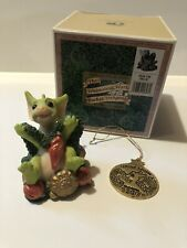 """""""Deck the Halls"""" Whimsical World of Pocket Dragons with Box And Ornament"""