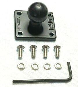 "RAM-B-347U-TOM1 - 2"" X 1.7"" Adapter Base with 1"" Ball for Rider 2 & Urban Rider"