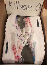 Women's Nike Air Max 1 CHERRY BLOSSOM WHITE PINK BLUE JAPAN 528898-102 sz 10.5