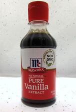 Mccormick Pure Vanilla Extract 8 oz Vanilla Bean 100 % Pure Plastic Bottle