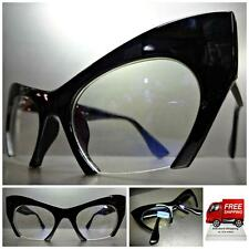 CLASSIC VINTAGE RETRO CAT EYE Style Clear Lens EYE GLASSES Black Fashion Frame