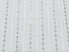 Eyelet 100% Cotton Lawn Bright White Mock Embroidery 55