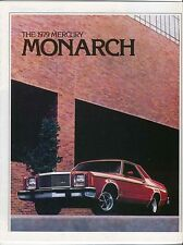 Mercury Monarch Ghia ESS 2-dr 4-dr 1979 Original USA Sales Brochure No. 79-207
