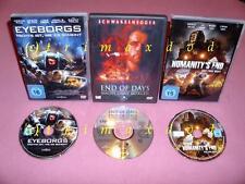 DVD _ eyeborgs & end of days-noche sin mañana (schwarzenegger) & humanity's end