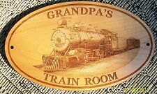 PERSONALIZED with ANY NAME TRAIN ROOM SIGN w/ Steam Engine / Father's Day Gifts
