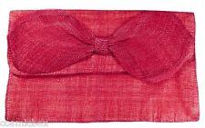 Sac à main de cérémonie Les 3 CHAPEAUX pochette femme rose fushia pink bag