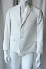 THOM BROWNE Mens White Cotton Canvas Suit-Jacket Blazer Coat 40 TB-2