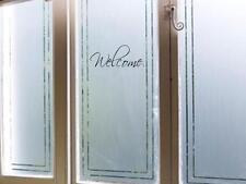 """WELCOME Decal Vinyl Home Decor Wall Door Window Word Lettering Sticker 9"""" X 3"""""""