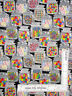 Jars of Candy Sweet Treats Silver Glitter Cotton Fabric Traditions By The Yard
