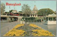 Vintage Postcard Disneyland Anaheim CA Santa Fe Train Depot disney 1976 5429