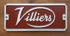 """ VILLIERS "" - Rustic Cast Aluminium Sign / Plaque, Vintage Stationary Engine"