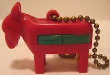 Old Plastic Donkey / Mule Vintage Keychain Puzzle