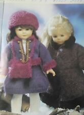 KNITTING PATTERN Dolls clothes vintage Russian winter coat skirt hat suit DK 42