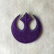 1.5inches STAR WARS REBEL INSIGNIA EMBROIDERY IRON ON PATCH BADGE #PURPLE